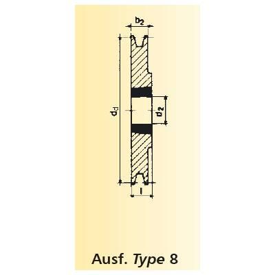 TB 1610 OPTIBELT Keilrillenscheibe für Taper-Buchse TB SPZ 112// 1